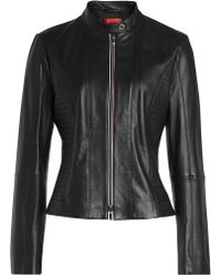 HUGO - Linotte Leather Jacket - Lyst