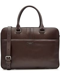 Tod's - Tods Leather Briefcase - Brown - Lyst
