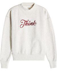 Étoile Isabel Marant - Embroidered Cotton Sweatshirt - Lyst