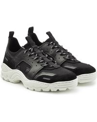 AMI - Running Trainers In Neoprene, Suede, Leather And Mesh - Lyst