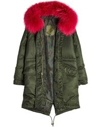 Mr & Mrs Italy - Down Coat With Fur-trimmed Hood - Lyst