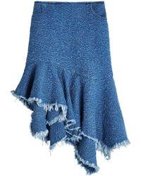 Marques'Almeida - Embroidered Denim Skirt - Lyst