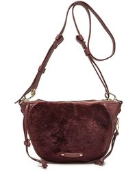 Liebeskind Berlin - Leather Crossbody Bag With Shearling - Lyst