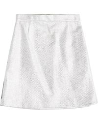 Carven - Metallic Skirt With Cotton - Lyst