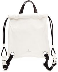Moncler - Drawstring Backpack In Leather - Lyst