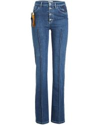 Sonia Rykiel - High Waist Jeans With Embroidery - Lyst
