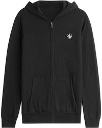 Lucien Pellat Finet - Zipped Hoody With Cotton And Cashmere - Lyst