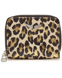 Zadig & Voltaire - Mini Savage Animal Print Leather Wallet - Lyst