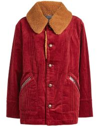 Marc Jacobs - Corduroy Jacket With Textured Collar - Lyst