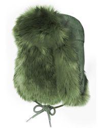 Charlotte Simone - Fashion Helmet Hat In Faux Fur - Lyst