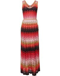 M Missoni - Knit Maxi Dress With Metallic Thread - Lyst