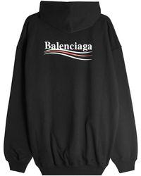 Balenciaga - Political Cotton Hoody - Lyst