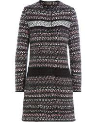 Giambattista Valli - Bouclé Coat With Wool - Lyst