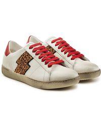 Amiri - Viper Leopard Low Leather Trainers - Lyst