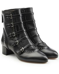 Tabitha Simmons - Embellished Leather Booties - Lyst