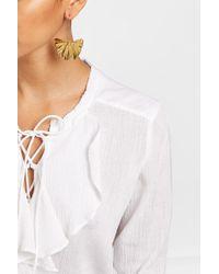 Aurelie Bidermann   18kt Gold Plated Gingkoblatt Earrings   Lyst