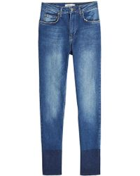 Anine Bing - Skinny Jeans With Contrast Ankle Detail - Lyst