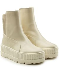 PUMA - Leather Creeper Ankle Boots - Lyst