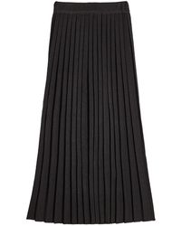 Ksenia Schnaider - Pleated Skirt With Wool - Lyst