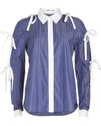 Sandy Liang - Striped Cotton Shirt With Bows - Lyst