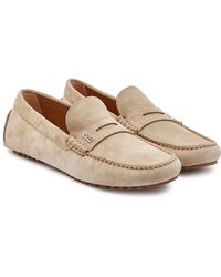 BOSS Suede Driving Loafers