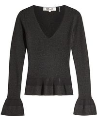 Diane von Furstenberg - Knit Pullover With Statement Cuffs - Lyst