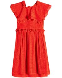 Balenciaga - Printed Silk Chiffon Mini Dress - Lyst