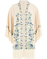 Talitha - Embroidered Silk Jacket - Lyst