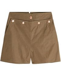 See By Chloé - Faille Shorts With Cotton - Lyst