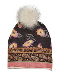 Etro - Hat With Wool, Cashmere And Fox Fur - Lyst