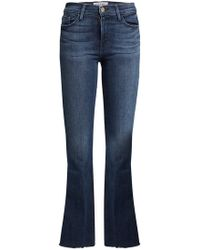 FRAME | Le Crop Bell Flared Jeans | Lyst