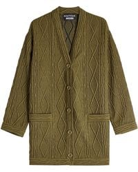 Boutique Moschino - Textured Cardigan With Wool - Lyst