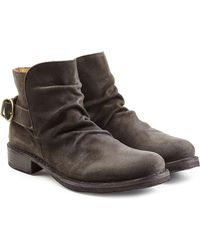 Fiorentini + Baker   Suede Buckle Back Ankle Boots   Lyst