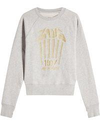 Zadig & Voltaire - Embroidered Cotton Sweatshirt - Lyst