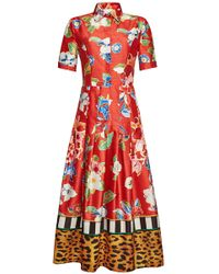 Stella Jean - Printed Maxi Dress - Lyst