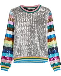 Mary Katrantzou - Magpie Sequin Sweatshirt - Lyst