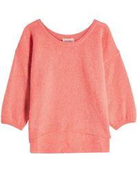 American Vintage - Pullover mit Alpakawolle, Wolle und High-Low-Saum - Lyst