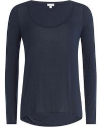 Splendid - Jersey Top With Cut-out Back - Lyst