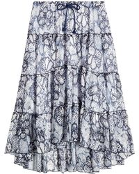 See By Chloé | Cotton-silk Printed Skirt | Lyst