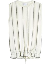 DKNY - Sleeveless Top With Drawstring Hem - Lyst