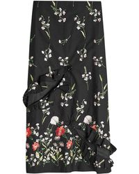 Marques'Almeida - Embroidered Slip Skirt With Cut-out Front - Lyst