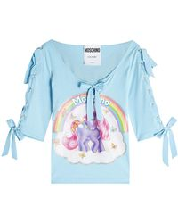 Moschino - Little Pony Printed Cotton Top With Bows - Lyst