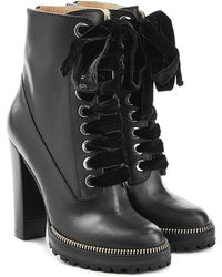 Sergio Rossi - Camilla Leather Ankle Boots - Lyst