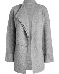 Vince - Double Breasted Cardigan In Wool-cashmere Blend - Lyst