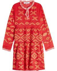 MARCH11 - Serena Embroidered Linen Mini Dress - Lyst