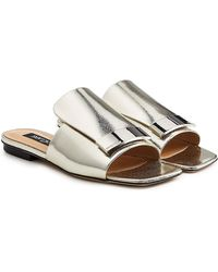 Sergio Rossi - Metallic Leather Sandals - Lyst