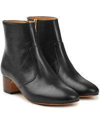 A.P.C. - Joey Leather Ankle Boots - Lyst