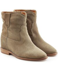 Isabel Marant | Suede Ankle Boots With Concealed Wedge | Lyst