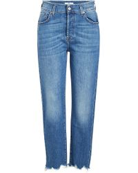 7 For All Mankind - High-waisted Josefina Cropped Jeans - Lyst