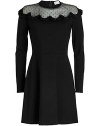 RED Valentino - Dress With Point D'esprit - Lyst